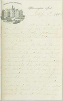 James Woodburn Letter to T. A. Wylie