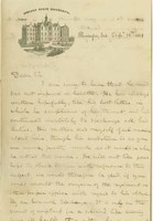 T. A. Wylie Letter to Capt. W. S. Charles