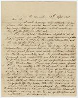 William Holmes McGuffey Letter to Andrew Wylie