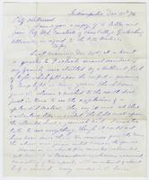 Letter from M. L. Comstock, and J. B. Roberts, to Daniel Kirkwood on Meteor Observations